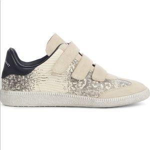 Isabel Marant Beth Sneakers Snakeskin Embossed 39